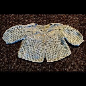Delicate hand created cardigan sweater siz…
